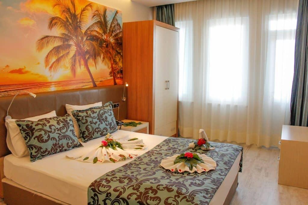 Hotelkamer van Ark apart en suite hotel in Alanya, Turkije