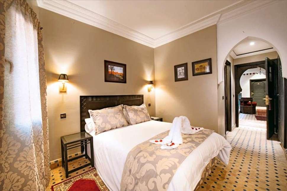 Hotelkamer van Hotel le Caspien in Marrakech, Marokko