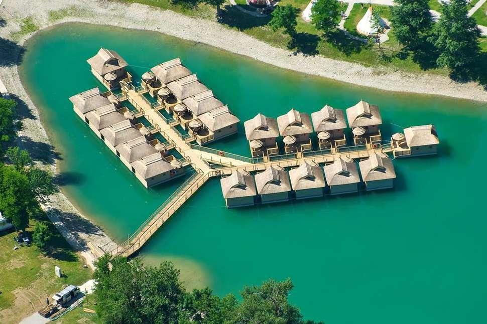 Waterhuisje van Camping Terme Catez in Čatež ob Savi, Slovenië