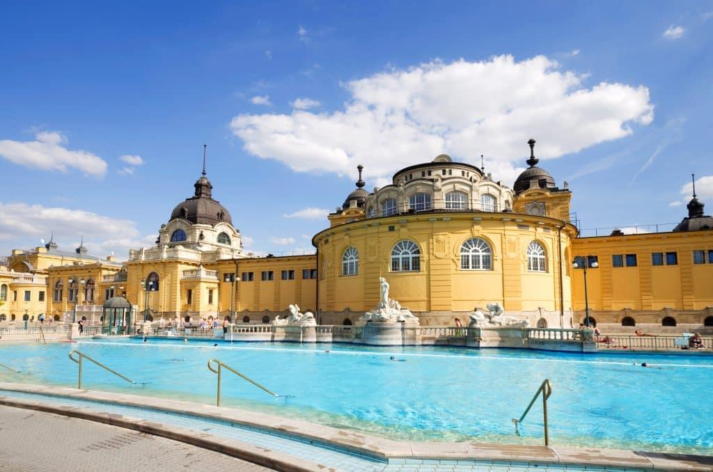 Szechenyi badhuis in Boedapest, Hongarije