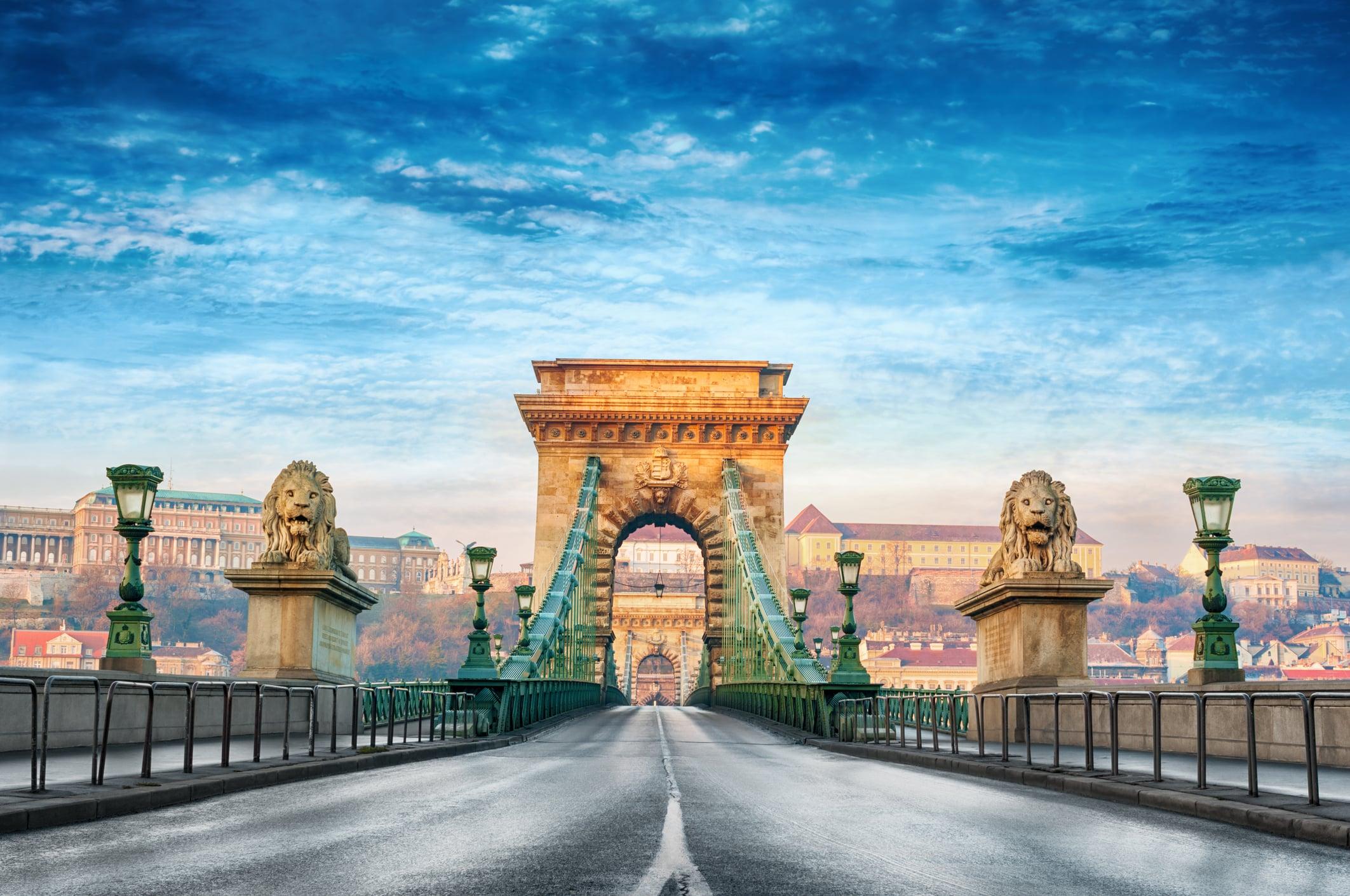 Kettingbrug in Boedapest, Hongarije