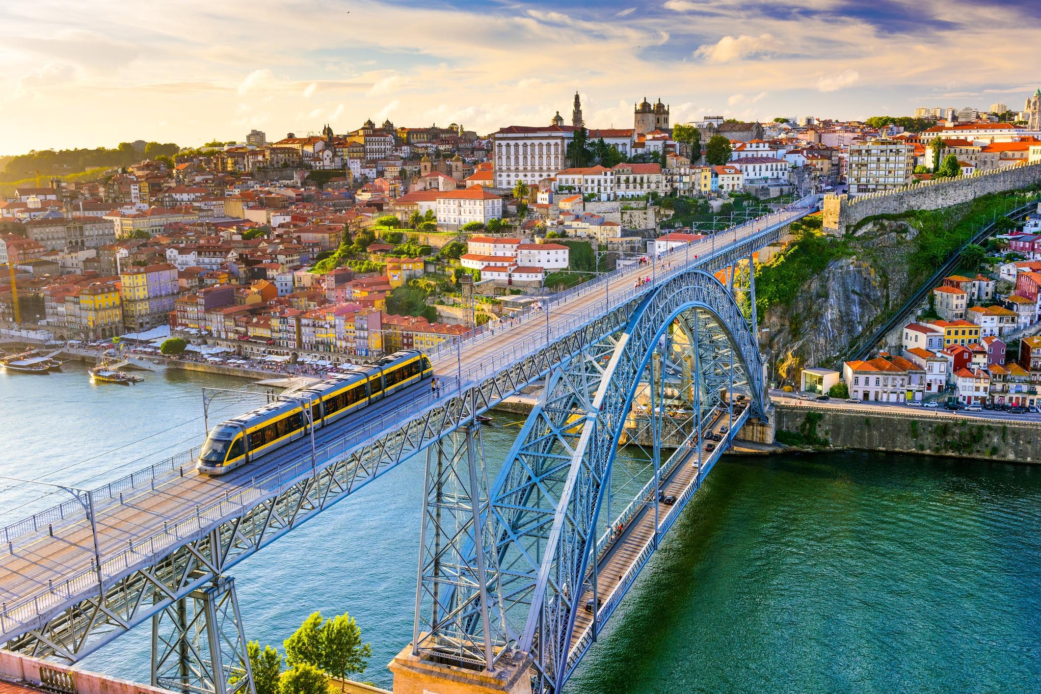 Trein in Porto, Portugal