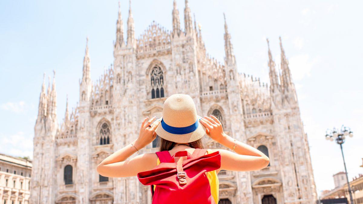 Kathedraal van Milaan in  Italië