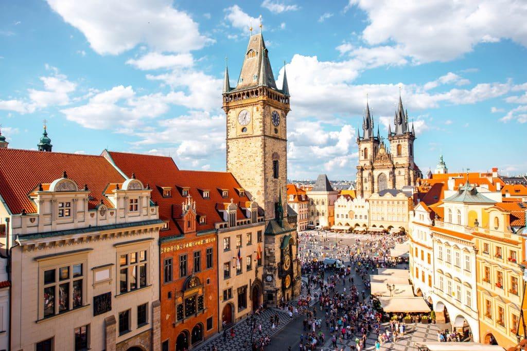 Uitzicht over Praag in Tsjechie