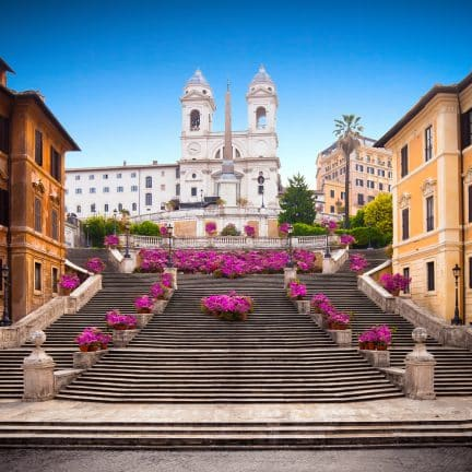 Spaanse Trappen in Rome, Italie