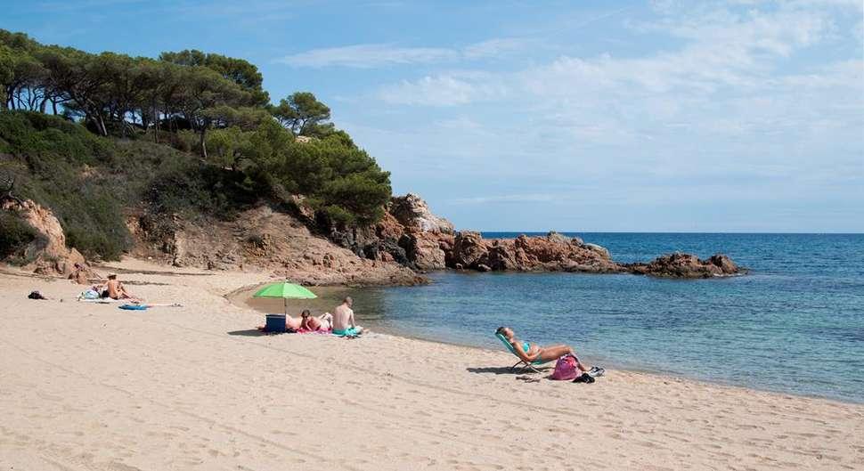 Strand bij Camping Valldaro in Platja d'Aro, Spanje