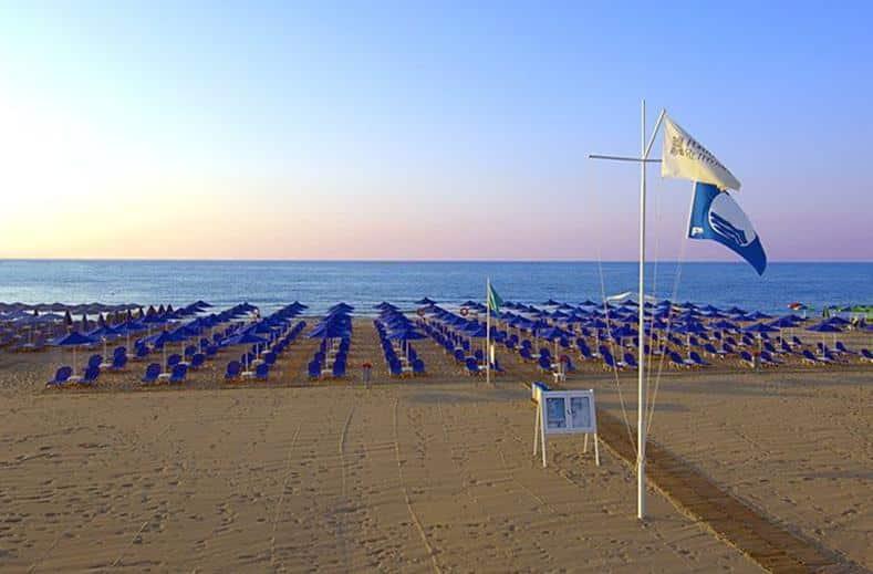Strand van Hotel Aquila Porto Rethymnon in Rethymnon, Kreta