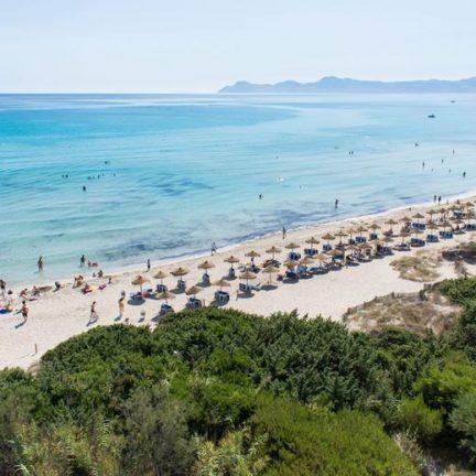 Strand van Zafiro Bahia in Playa de Muro, Mallorca