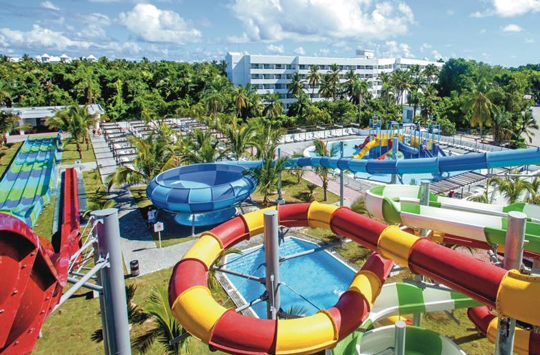 Waterpark van Clubhotel Riu Bambu in Punta Cana, Dominicaanse Republiek