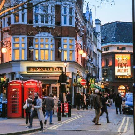 Wijk Soho in Londen, Verenigd Koninkrijk