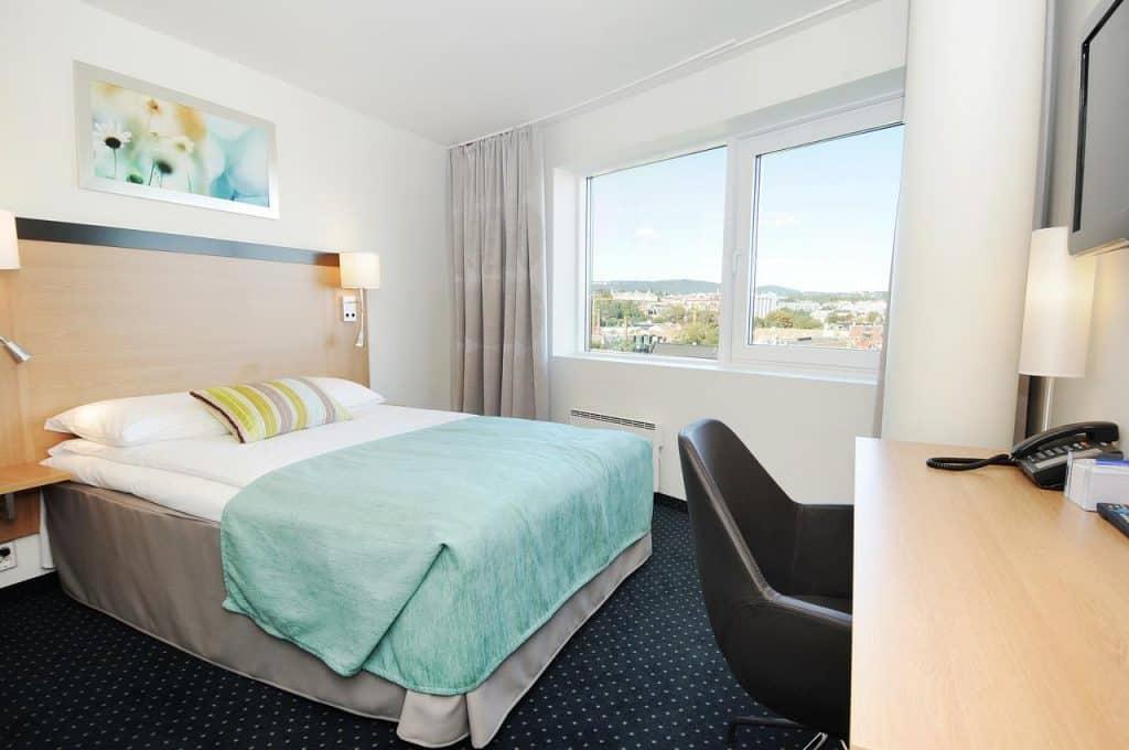 Hotelkamer van Anker hotel Oslo in Noorwegen