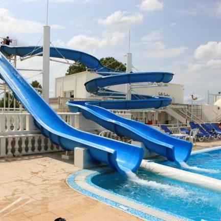 Glijbanen van Hotel Samira Club in Hammamet, Tunesië
