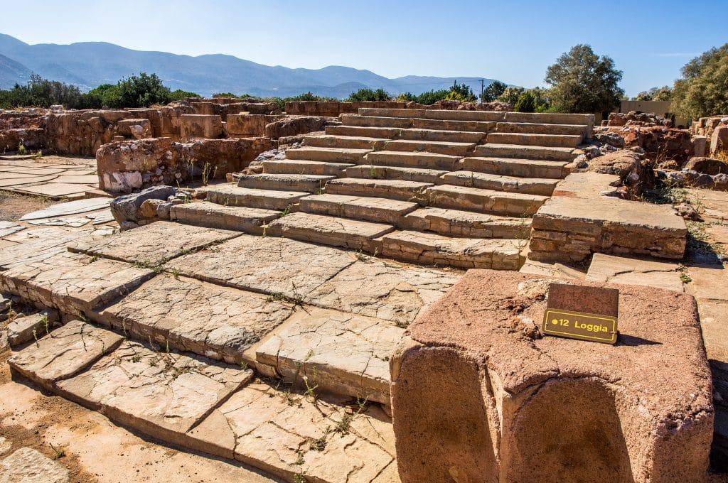 Het paleis van Malia op Kreta, Griekenland