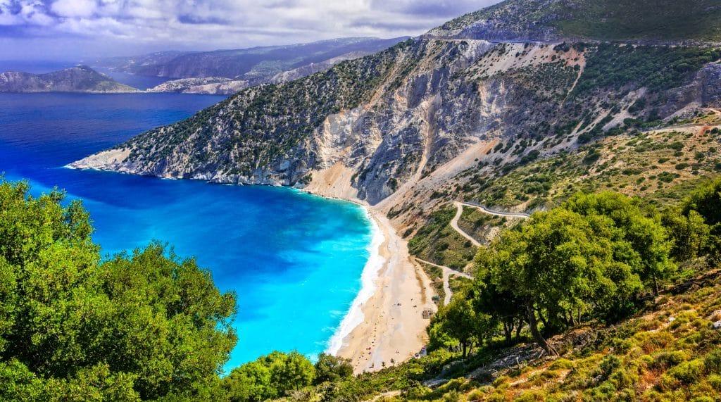 Myrthos Beach op Kefalonia, Griekenland