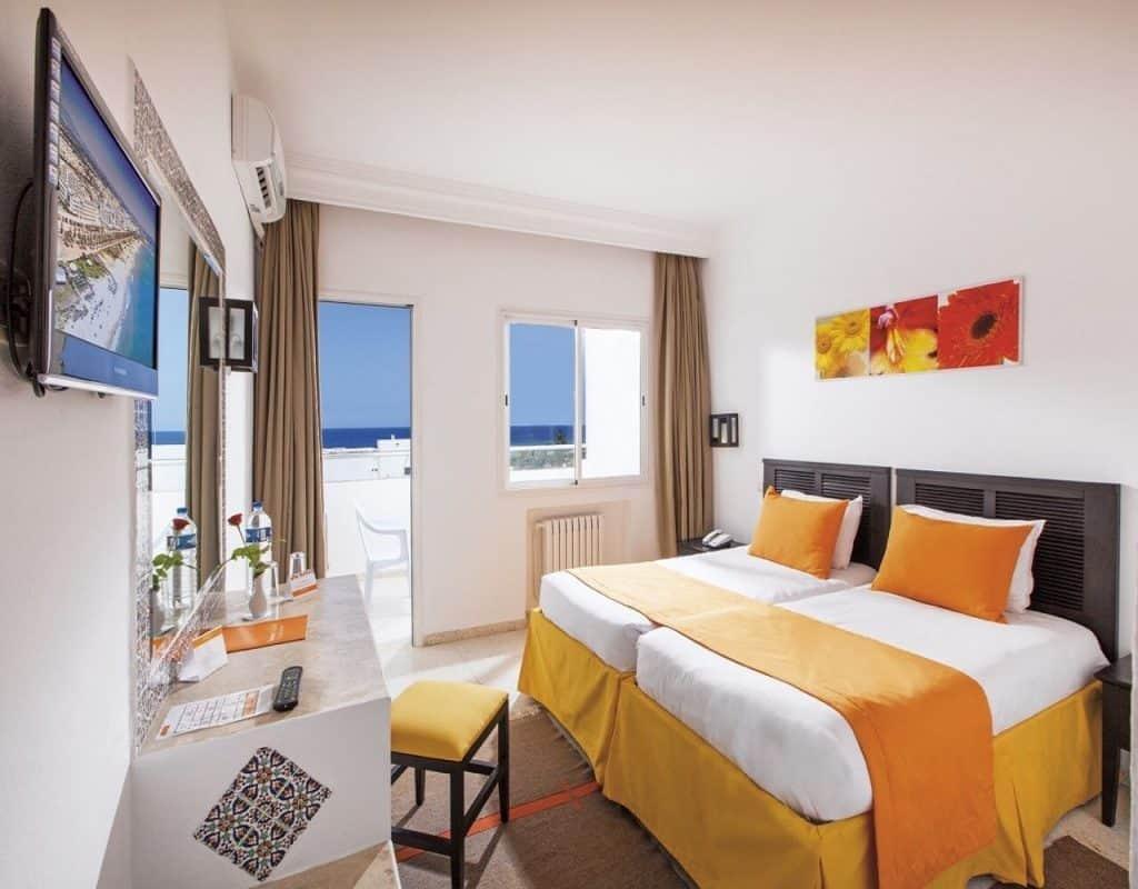 Hotelkamer van Tropicana hotel in Skanes, Tunesië