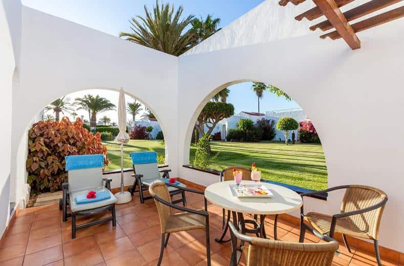 terras van Aparthotel Barbacan in Playa del Inglés, Gran Canaria