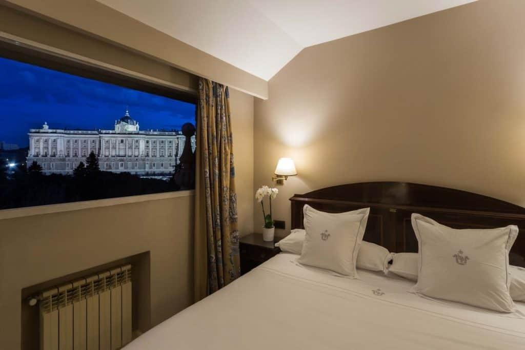 Hotelkamer van Hotel Principe Pio in Madrid, Spanje