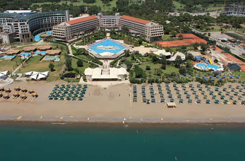 Strand van Kaya Belek in Belek, Turkije