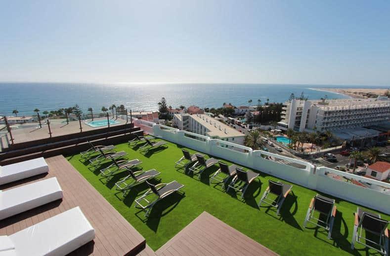 Uitzicht van SCENE Caserio in Playa del Inglés, Gran Canaria