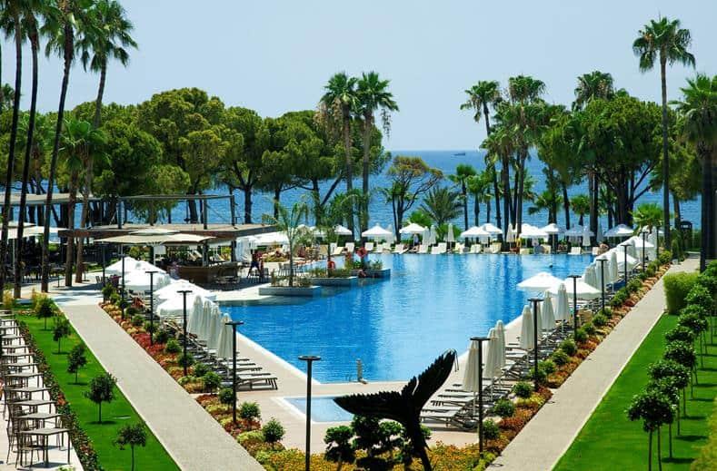 Zwembad van Barut Acanthus en Cennet in Side, Turkije