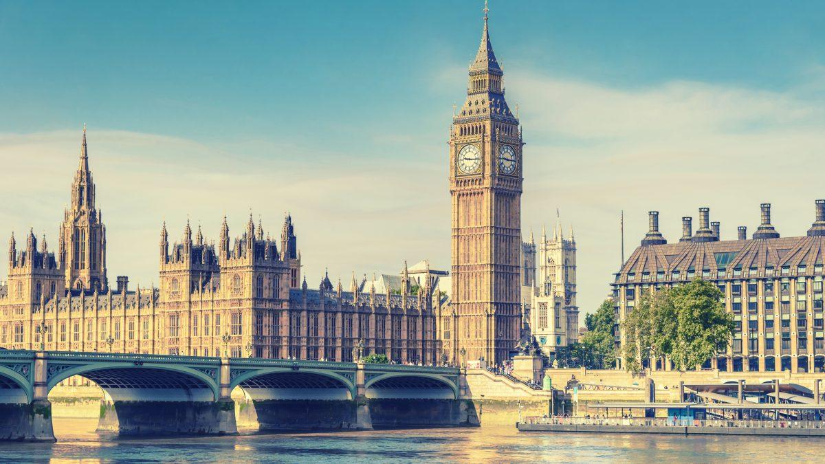Big Ben en Houses of Parliament in Londen, Engeland