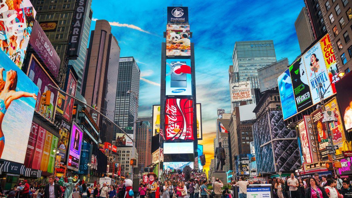 Billboards op Times Square in New York, Verenigde Staten