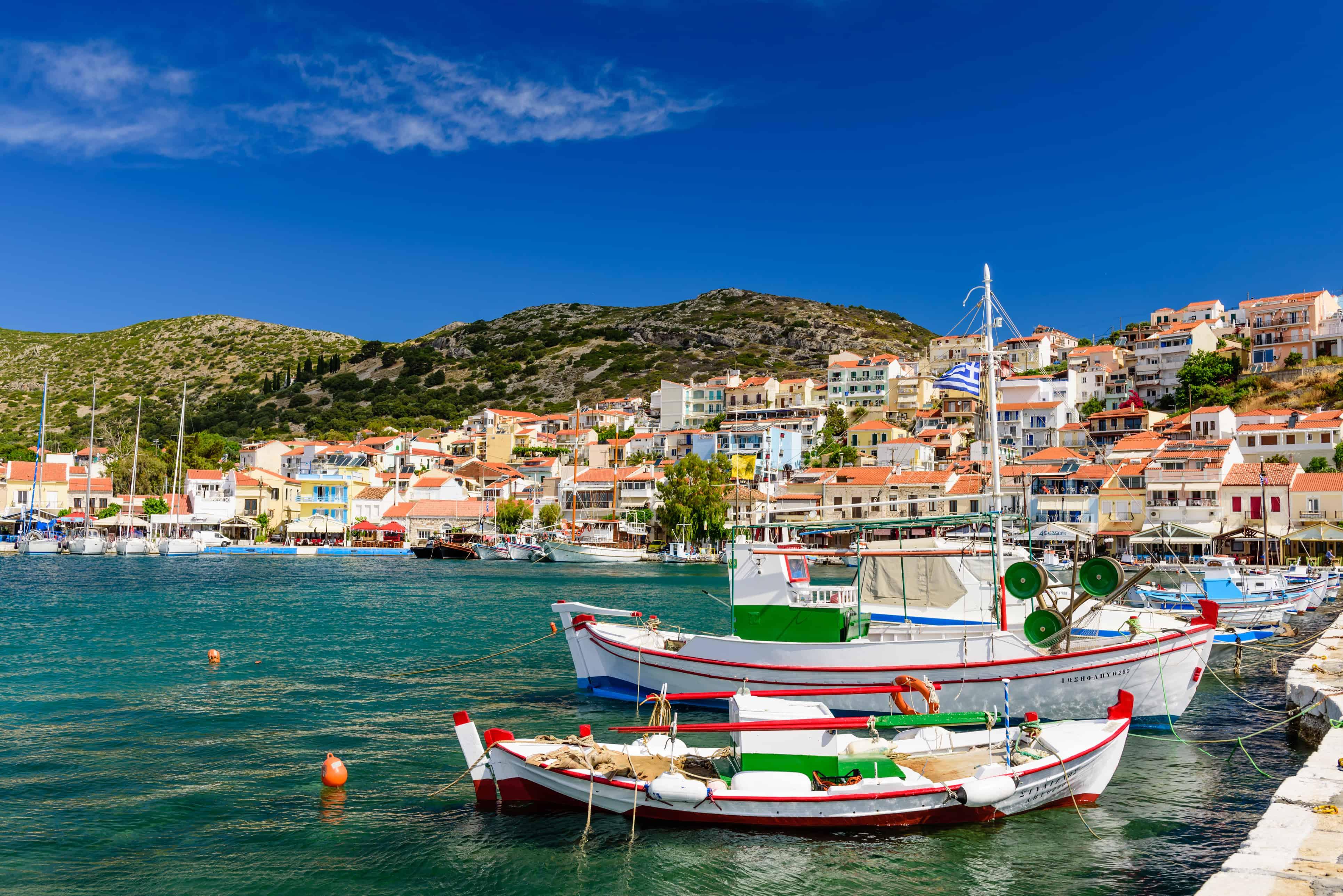 Bootjes in de haven van Pythagorion op Samos