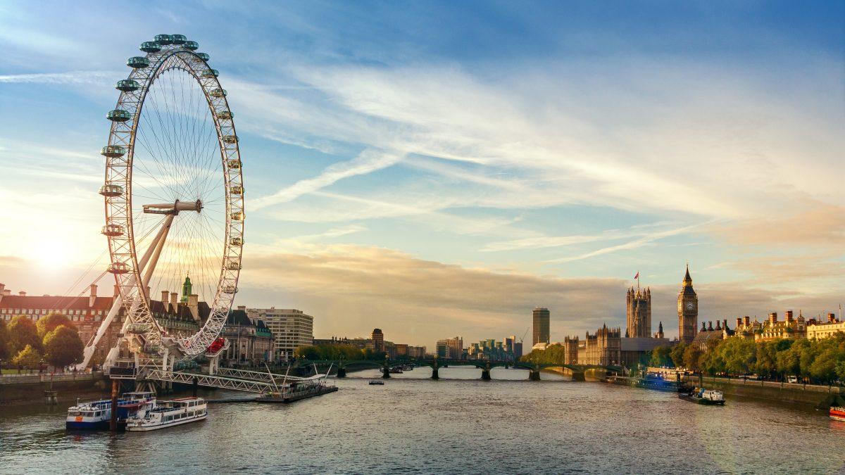 De London Eye in Londen, Engeland