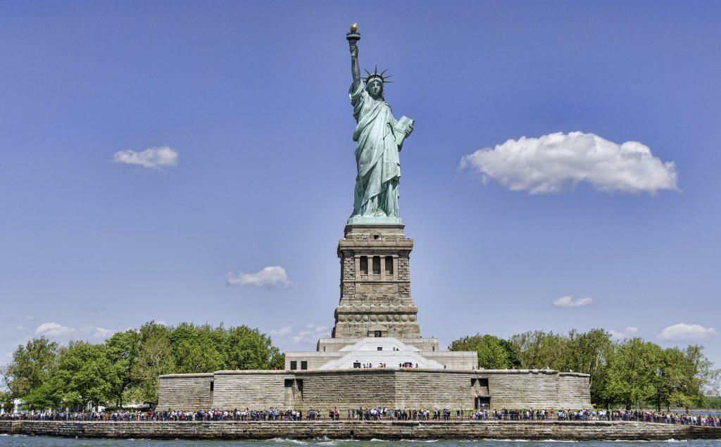 Het Vrijheidsbeeld in New York, Verenigde Staten
