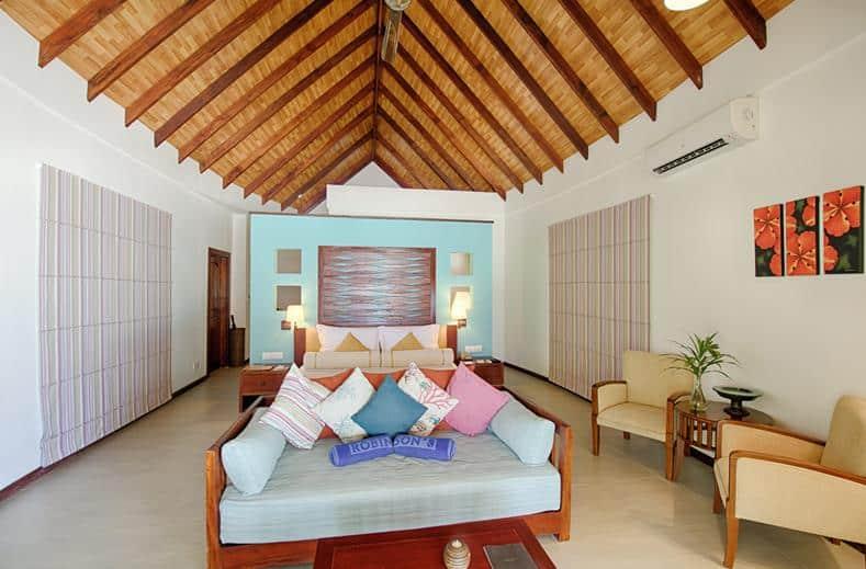 Hotelkamer van Robinson Club Maldives in Gaafu Alif Atol, Malediven