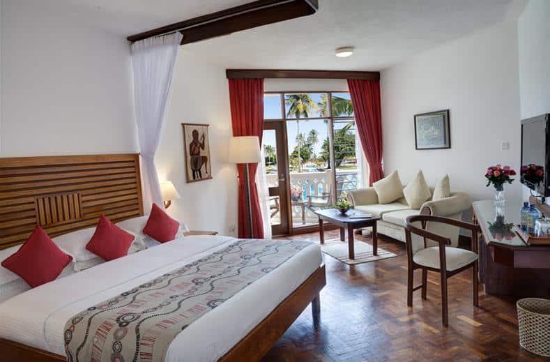Hotelkamer van Amani Tiwi Beach Resort in Mombasa, Kenia