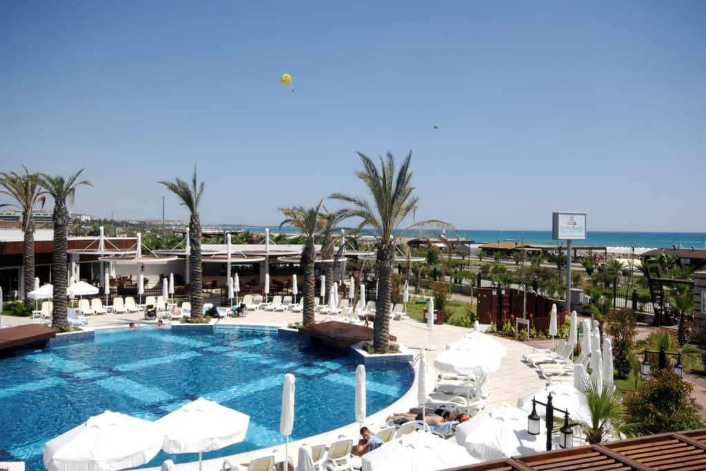 Ligging van Evren Beach Resort in Side, Turkije
