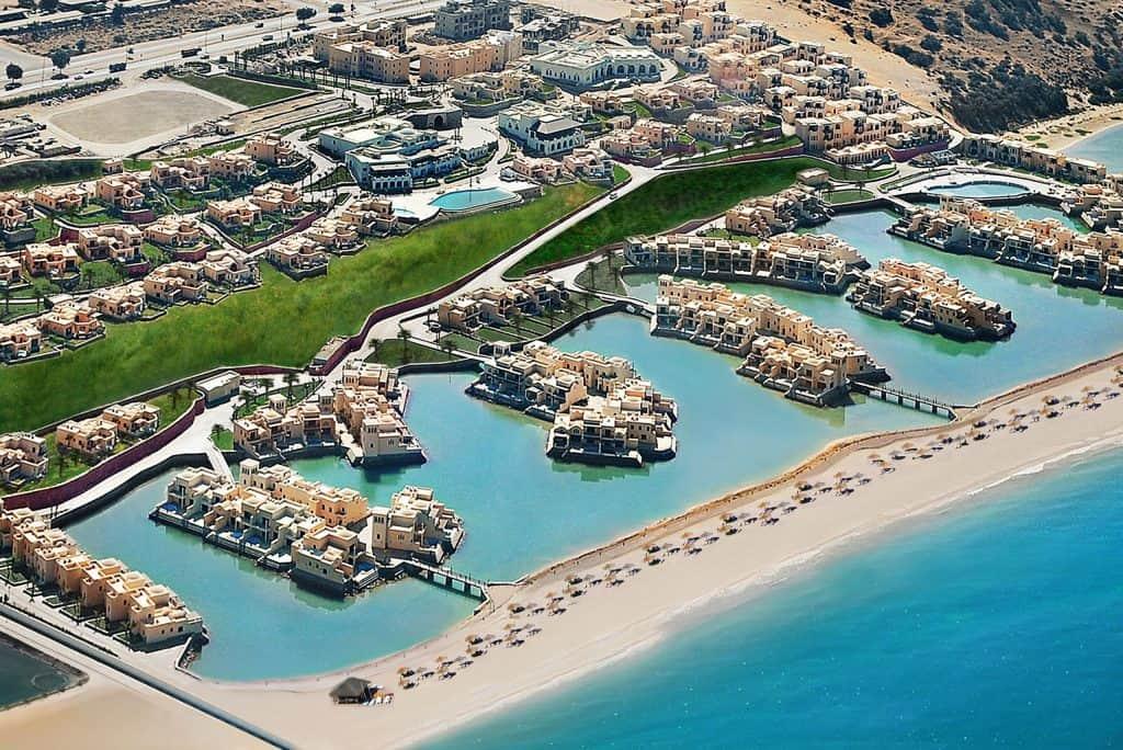 Ligging van Hotel The Cove Rotana in Ras Al-Khaimah, Verenigde Arabische Emiraten