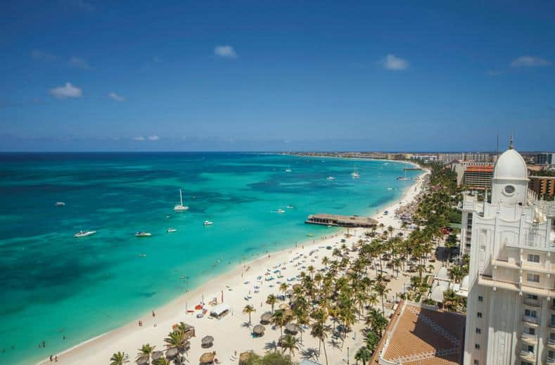 Ligging van RIU Palace Antillas in Palm Beach, Aruba