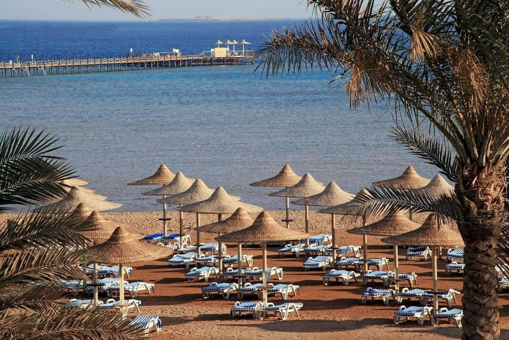 Strand van Stella di Mare Garden Resort in Makadi Bay, Egypte