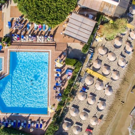 Ligging van Vasia Hotels Zephyros Beach Boutique in Stalis, Kreta