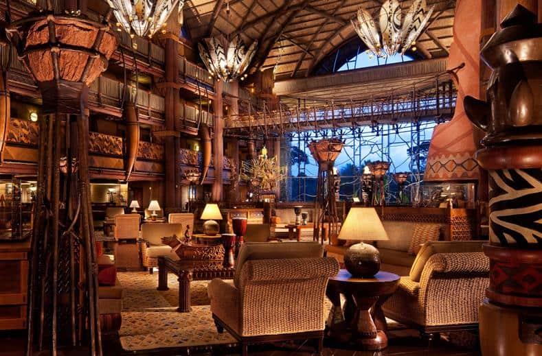Lobby van Disney's Animal Kingdom Lodge in Orlando, Florida