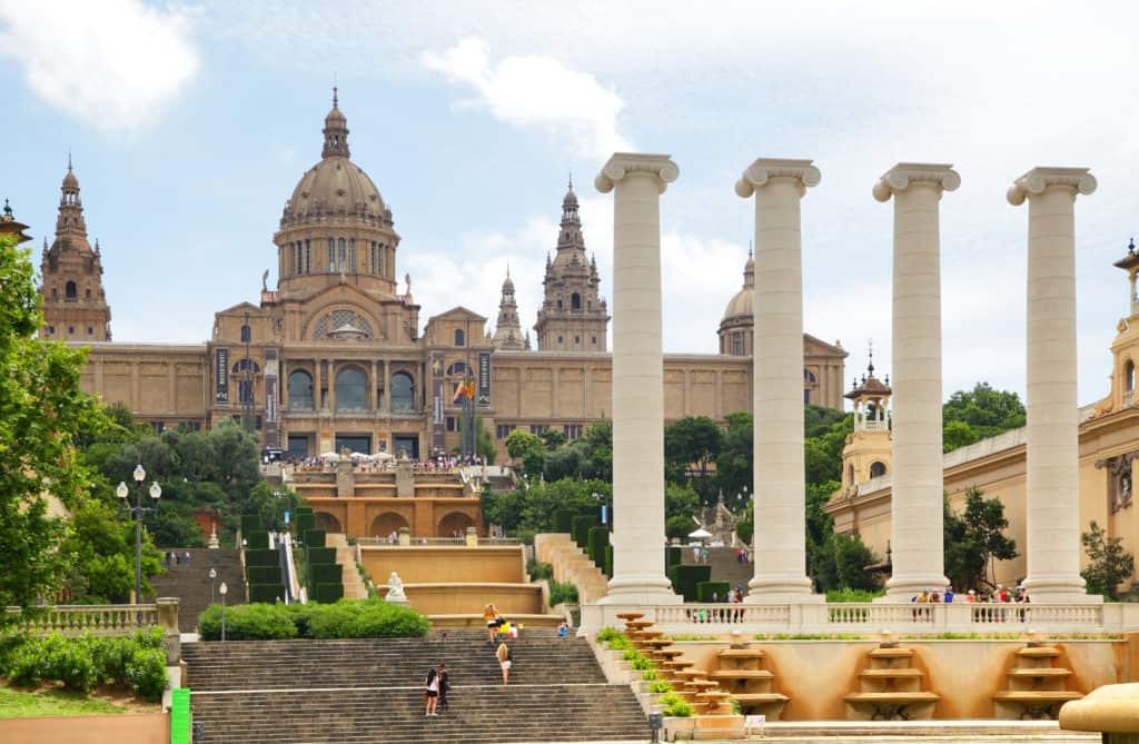 Nationaal Paleis in Parc Montjuïc in Barcelona, Spanje
