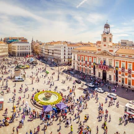 Plaza Mayor in Madrid, Spanje