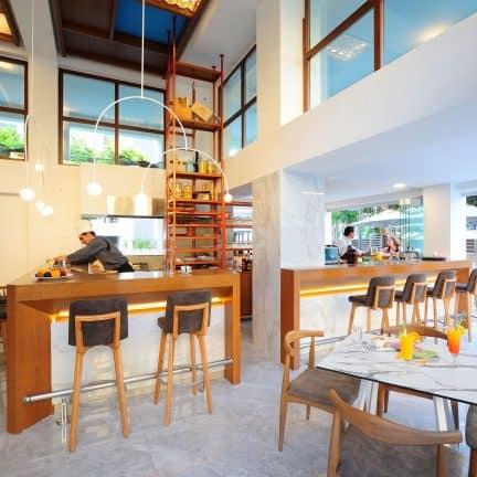 Restaurant van Atrium Ambiance Hotel in Rethymnon, Kreta
