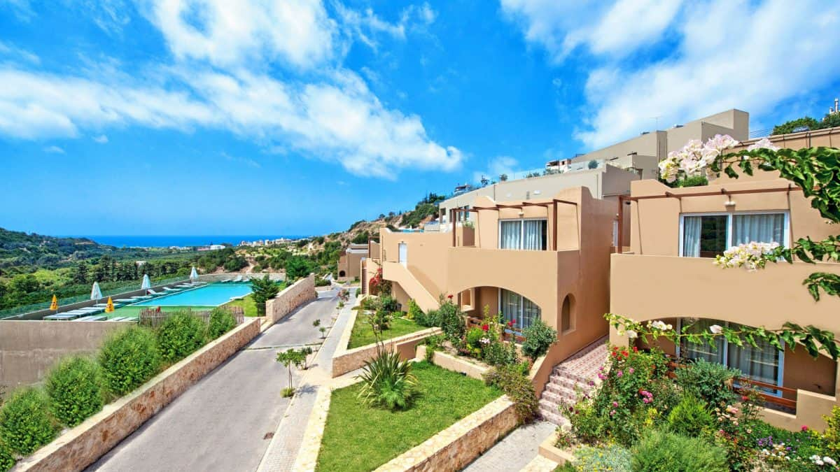 Hotelkamer van Rimondi Grand Resort & Spa in Stavromenos, Kreta