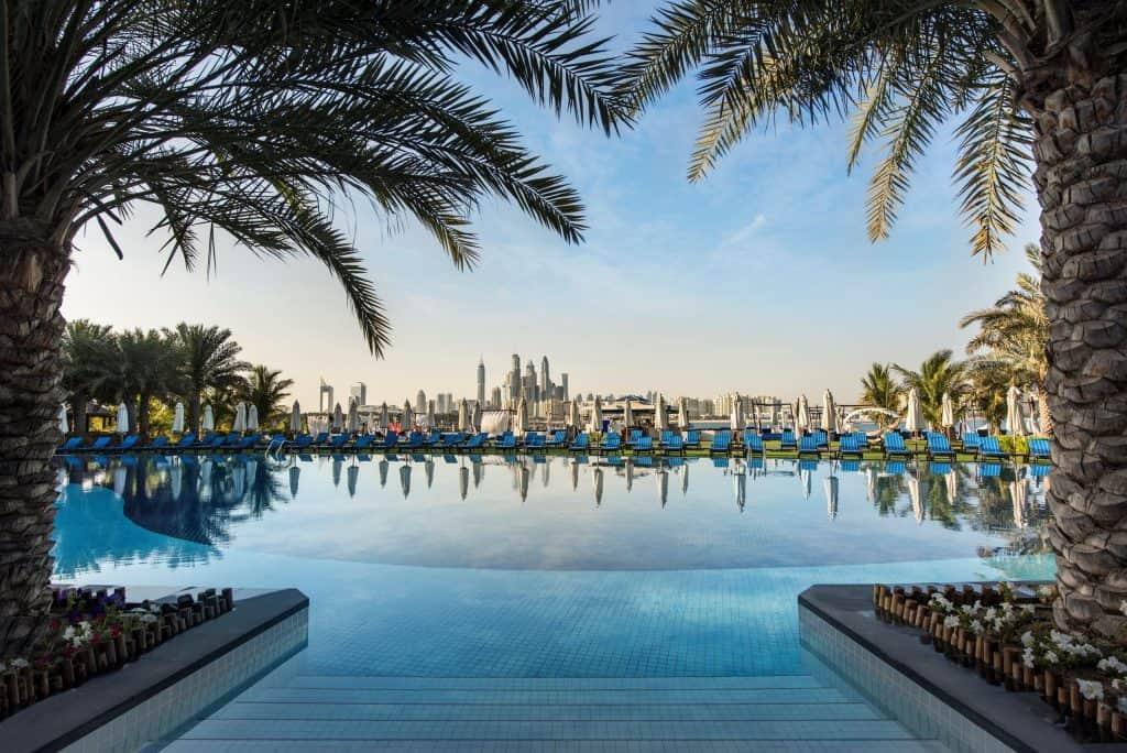 Zwembad van Rixos The Palm in Dubai, Verenigde Arabische Emiraten