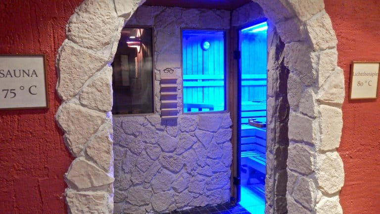 Sauna van Hotel Lochmühle in Mayschoss, Duitsland