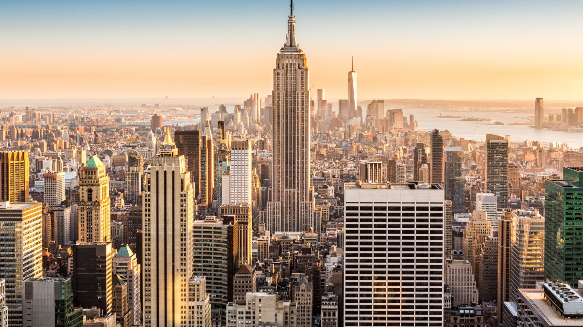 Uitzicht op het Empire State Building in New York, Verenigde Staten