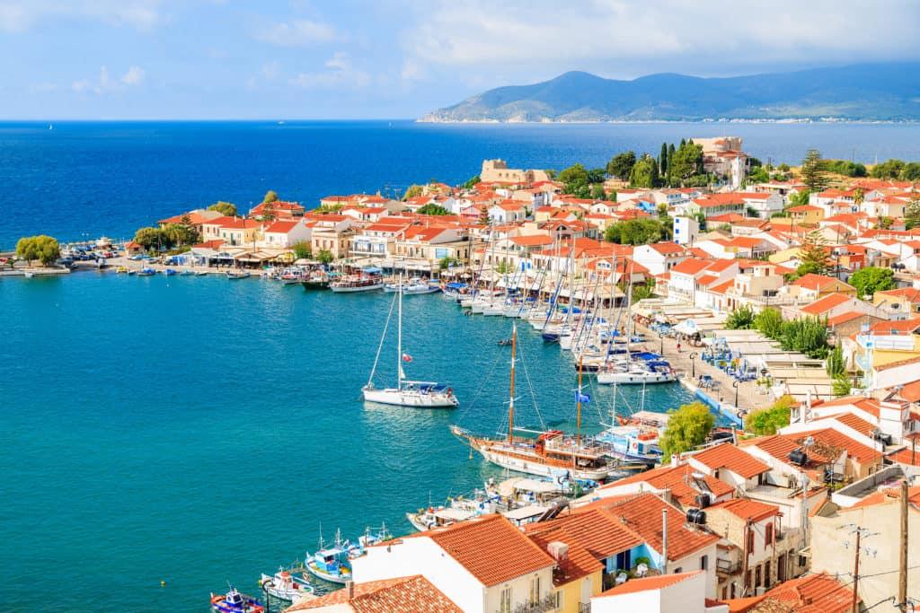 Uitzicht over de stad Pythagorion op Samos