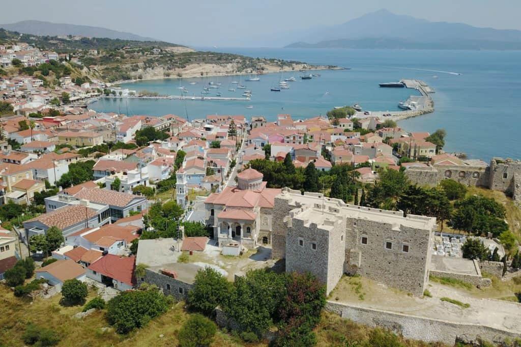Uitzicht op Pythagorion, Samos