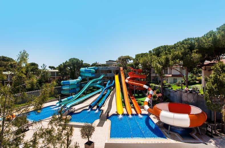 Waterpark van Maxx Royal Belek Golf Resort in Belek, Turkije