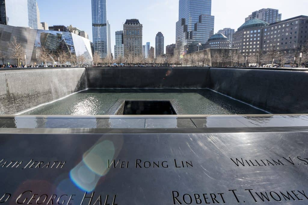 World Trade Center memorial in Ground Zero, New York, Verenigde Staten