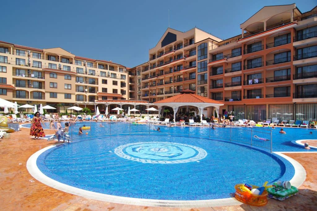 Zwembad van Diamant Residence en Spa in Sunny Beach, Bulgarije