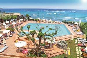 zwembad zee vasia hotels zephyros beach boutique in stalis kreta